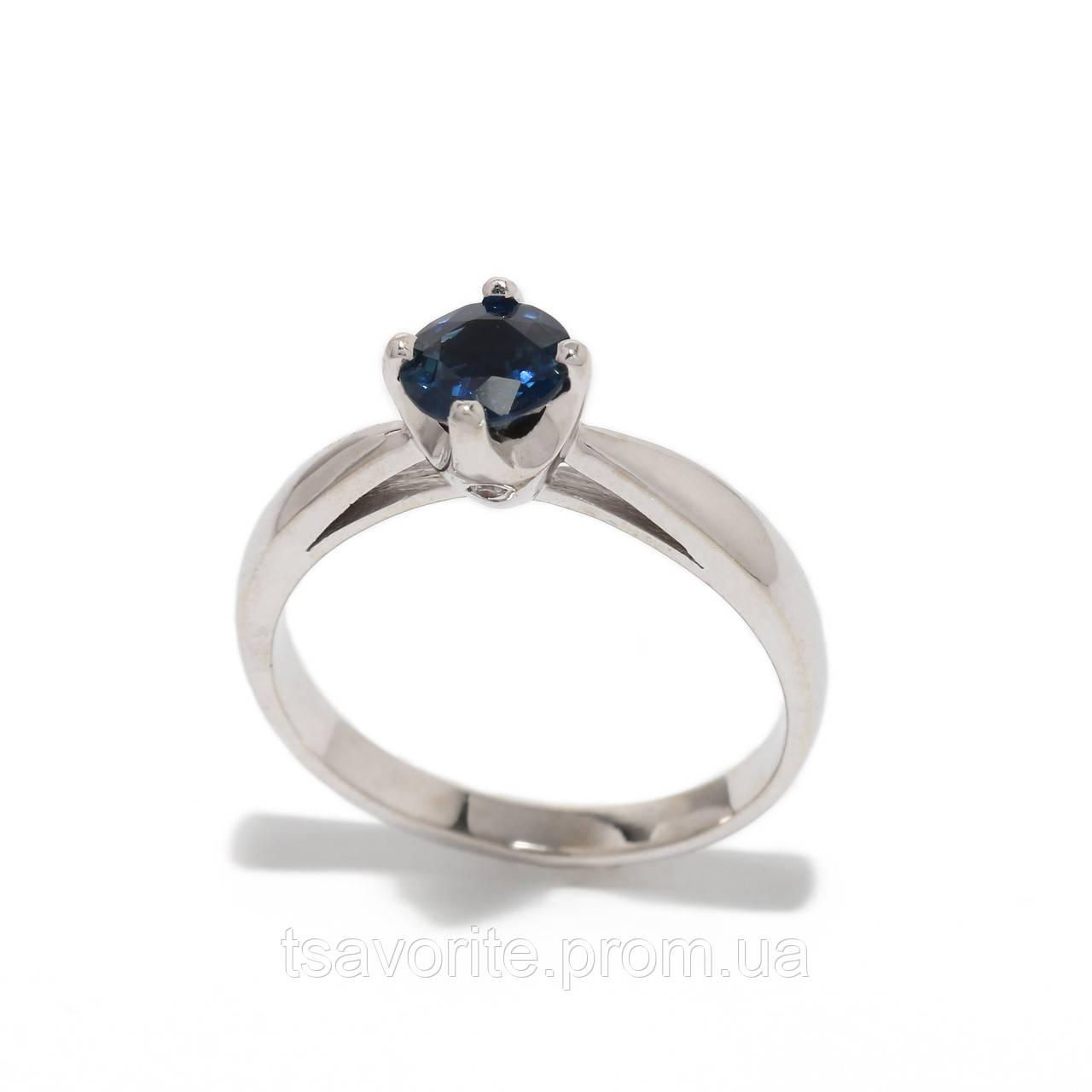 Золотое кольцо с сапфиром и бриллиантами 2297533