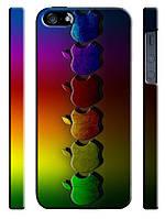 Cases for iphone, Чехол для iPhone 4/4s/5/5s/5с, Apple rainbow, радуга