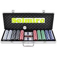 Покерный набор в алюминиевом кейсе на 500 фишек (62x21x8 см) №500