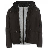 Куртка Firetrap Double Layer Parka Black - Оригинал