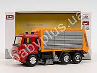 Машинка металл, инер-я, мусоровоз, 14см, 1:54, резиновые колеса, в коробке