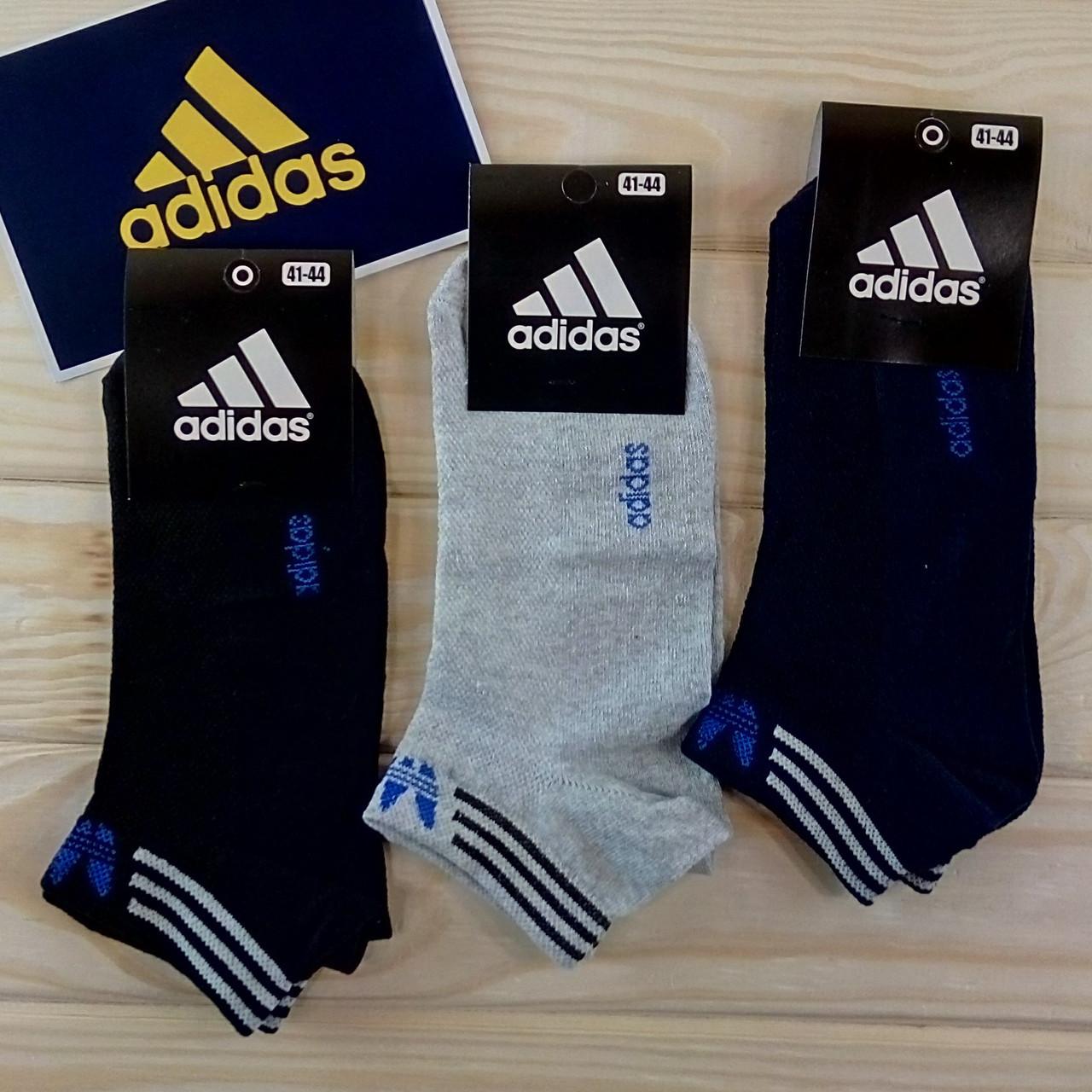 90d2b12ef1bc2 Adidas летние мужские носки короткие с сеткой ассорти растяжной 41-44  размер (12пар комплект