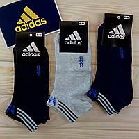 Adidas летние мужские носки короткие с сеткой ассорти растяжной 41-44 размер (12пар комплект)