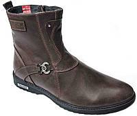 """Зимние ботинки мужские """"Max Mayar"""". Натуральный мех(Цигейка). Кожаные. Коричневые"""