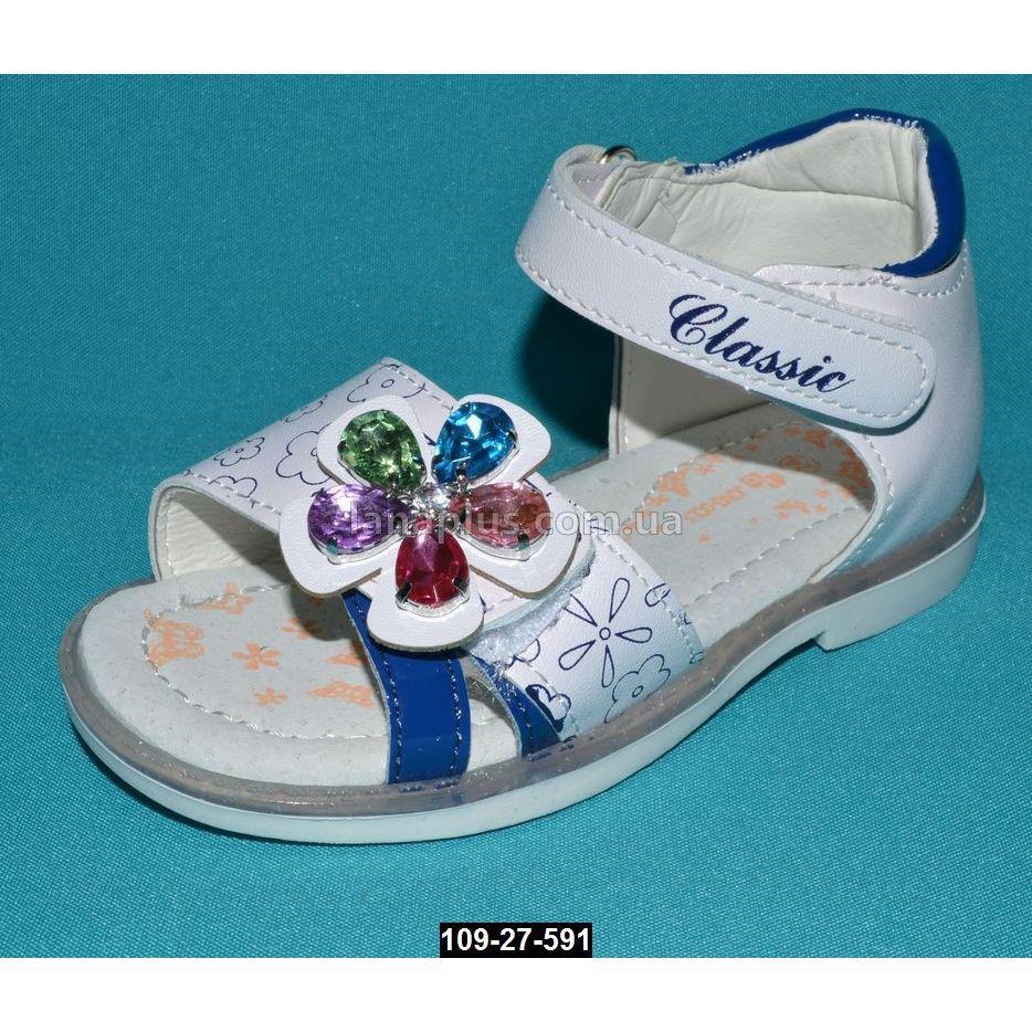 Ортопедические босоножки для девочки, 22-26 размер, супинатор, каблук Томаса