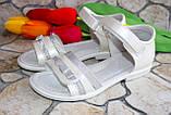 Подростковые белые босоножки  для девочки  фирмы Clibee (36 размер), фото 3