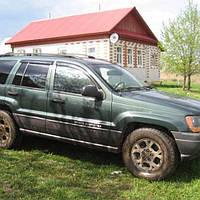 COBRA TUNING Дефлекторы окон на Jeep Grand Cherokee (WJ) '98-04 (накладные)