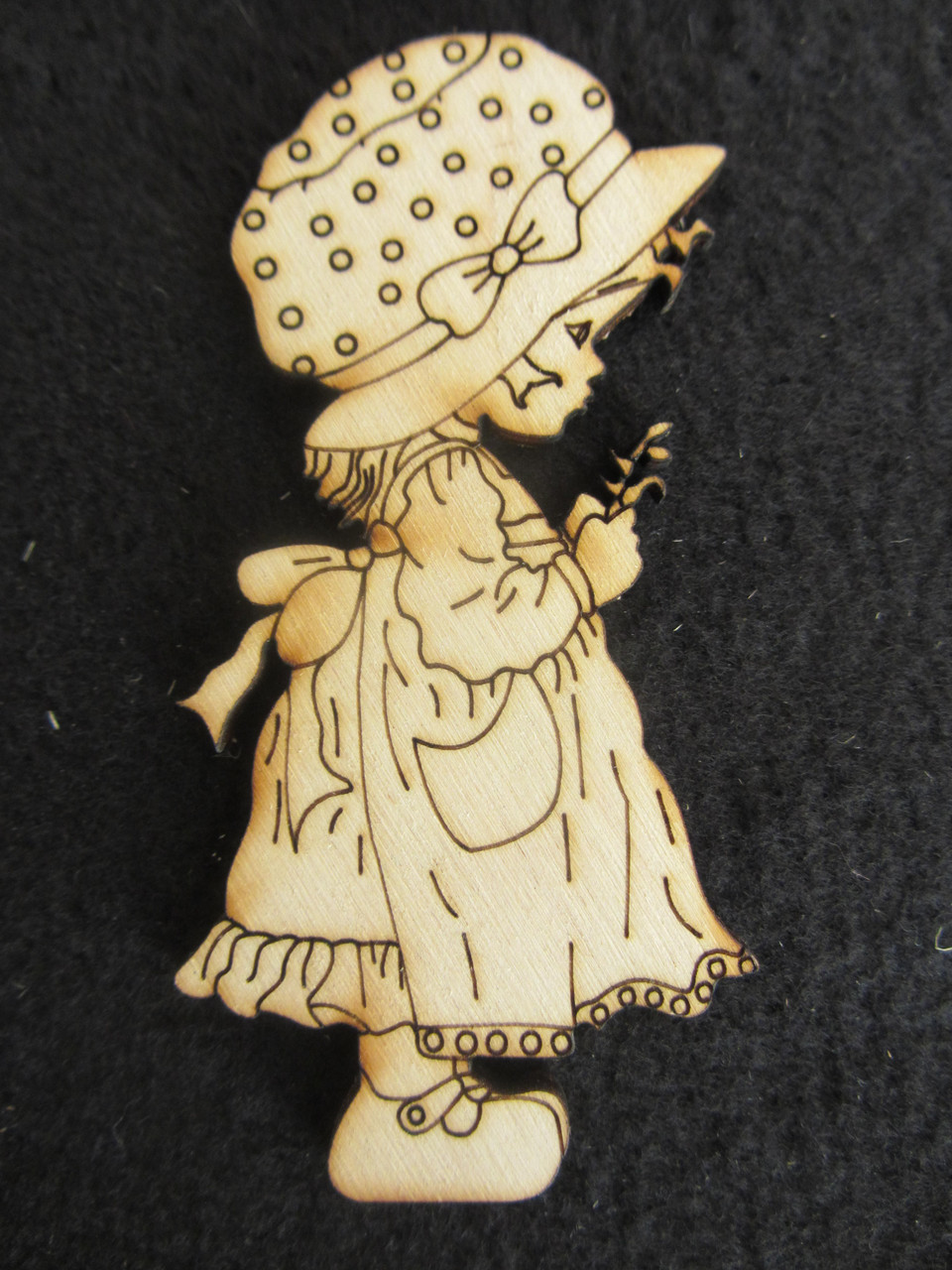 "Заготовка из дерева для декора ""Ретро девочка"", 9х4см, 12/10 (цена за 1 шт. +2 грн.)"