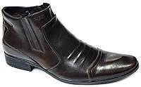 """Зимние ботинки """"Faro"""". Натуральный мех(Цигейка). Коричневые. Мужские"""