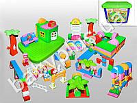 Конструктор Детская площадка 172 дет. В пластиковой коробке.