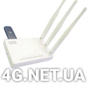 Стационарный 3G/4G WI-FI роутер Netis + Huawei E3372 для Киевстар,Vodafone,Lifecell, фото 2