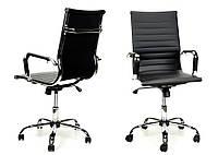 Компьютерное кресло - эко-кожа - хромированная основа PRESTIGE Calviano