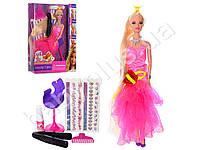 Кукла, кукла 29см(длин.волосы), краска для волос, стул,аксессуары, в слюде