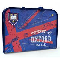 """Папка-портфель на молнии с тканевыми ручками """"Oxford"""""""