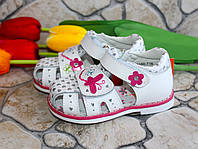 Ортопедические кожаные босоножки для девочки Little Deer, фото 1