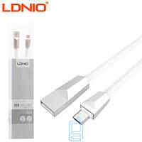 USB кабель LDNIO LS26 micro USB белый