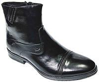 """Мужские зимние ботинки """"Faro"""". Натуральная шерсть. Черные"""