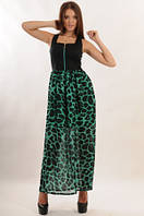 Платье летнее длинное в пол, платье леопардовое, платье шифоновое, платье нарядное красивое , фото 1