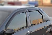 COBRA TUNING Дефлекторы окон на Renault Logan/Dacia Logan I '04-12 седан (накладные)