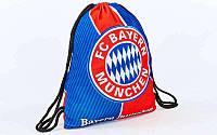 Рюкзак-мешок  BAYERN MUNCHEN (нейлон, р-р 39х49см, красный-синий), фото 1
