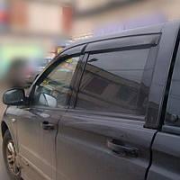 COBRA TUNING Дефлекторы окон на SsangYong Actyon Sports '06-12 (накладные)