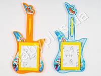 Досточка для рисования, ч/б, в форме гитары, 2 цвета, в кульке