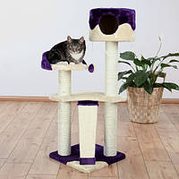"Когтеточка,дряпка Trixie TX-44831 домик для кота ""Carla"" 104см, беж/фиолет Трикси Карла."