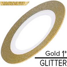 KATTi Лента-скотч GLITTER 1мм блестки золотая 1шт