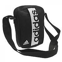 Сумка Adidas Linear Organiser Black/White черная - Оригинал
