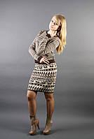 Теплый вязаный комплект женский кофта+юбка