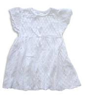 Летнее ажурное платье белого цвета, рост 98 см