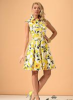 Очаровательное летнее платье из коттона стрейч Пэлма