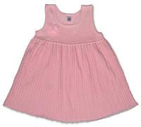 Летнее ажурное платье розового цвета, рост 74 см