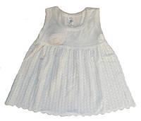 Летнее ажурное платье белого цвета, рост 74 см, фото 1