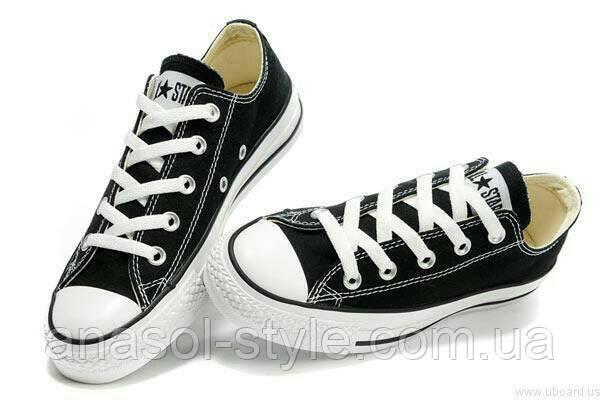 Кеды Converse черные низкие реплика