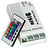 RGB-контроллер светомузыкальный (108ВТ) с пультом ДУ (24 кнопки)