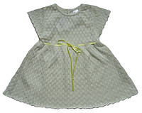 Летнее ажурное платье светло-бежевого цвета, рост 80 см