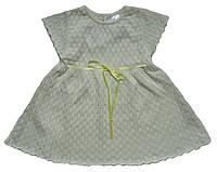 Летнее ажурное платье светло-бежевого цвета, рост 80 см, фото 1