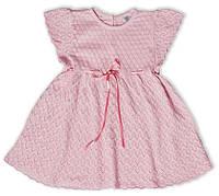 Летнее ажурное платье розового цвета, рост 80 см