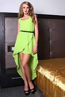 Сарафан летний шифоновый со шлейфом светлый, сарафан яркий, красивый, молодежный, повседневный
