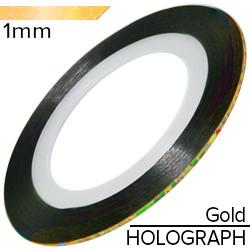 KATTi Лента-скотч HOLOGRAPHIC 1мм золото голограф 1шт
