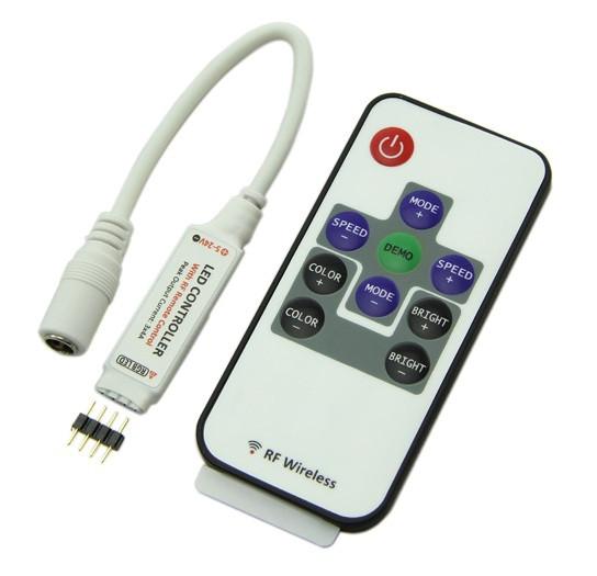 Контроллер RGB / 6A-RF-10 кнопок / DC 12V / Мощность 72W / RF - пуль д/у