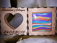 Набор для песочной церемонии. Рамка именная+песок (1700 грамм), фото 1