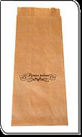 Упаковочный пакет бумажный с надписью Ручная Работа №2  1 шт / 100 шт