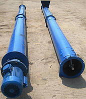 Шнек зерновой желоб ВК-250 4,5 м/п привод редуктор-эл/двигатель 3,0кВт