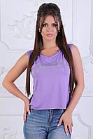 Женская футболка рванка разлетайка с разрезами по бокам укороченная спереди, батал и норма