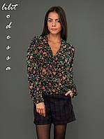 Шифоновая блуза с запахом, фото 1