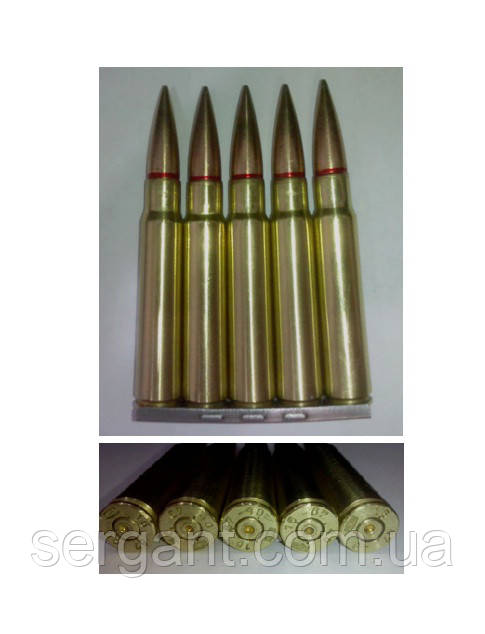 Учебные патроны макеты ММГ винтовки Маузер 7,92х57 (цена за 5шт+обойма)