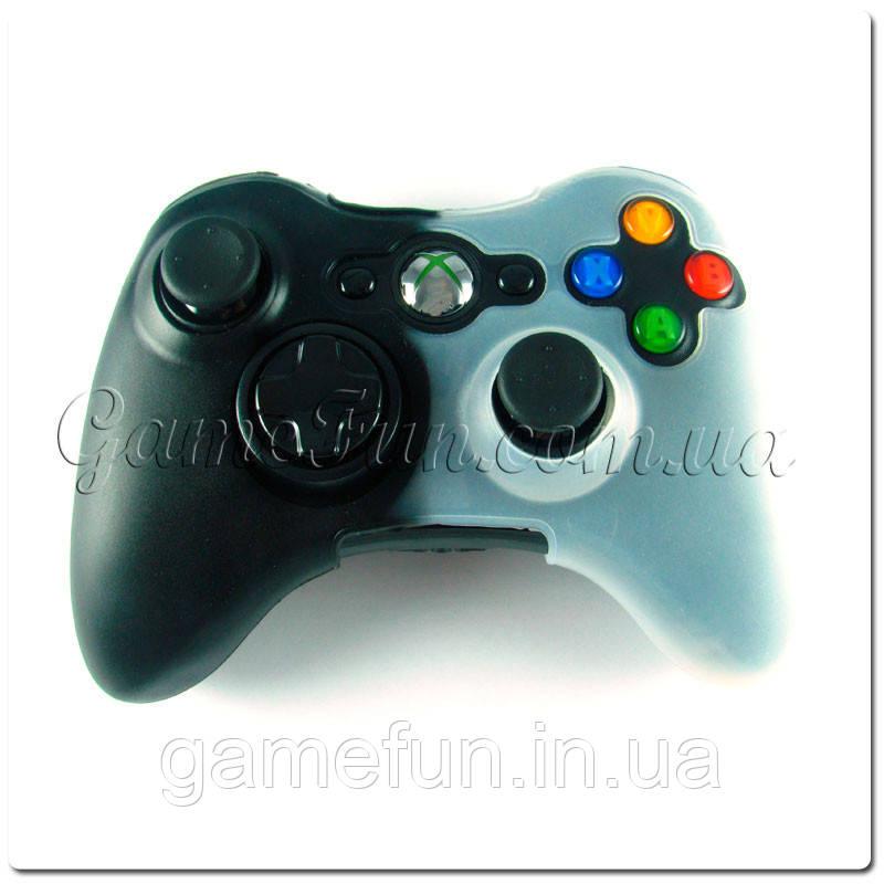 Силиконовый чехол для джойстика Xbox 360 (black/white)