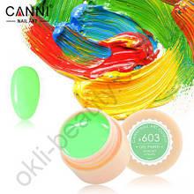 Гель-краска Canni №603 (зеленая мята), 5 мл